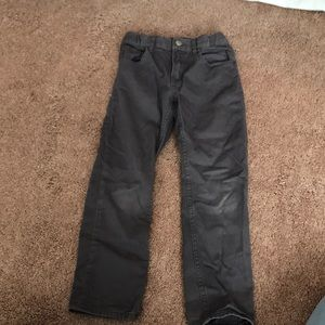 Boys gray slim pants size 6-7